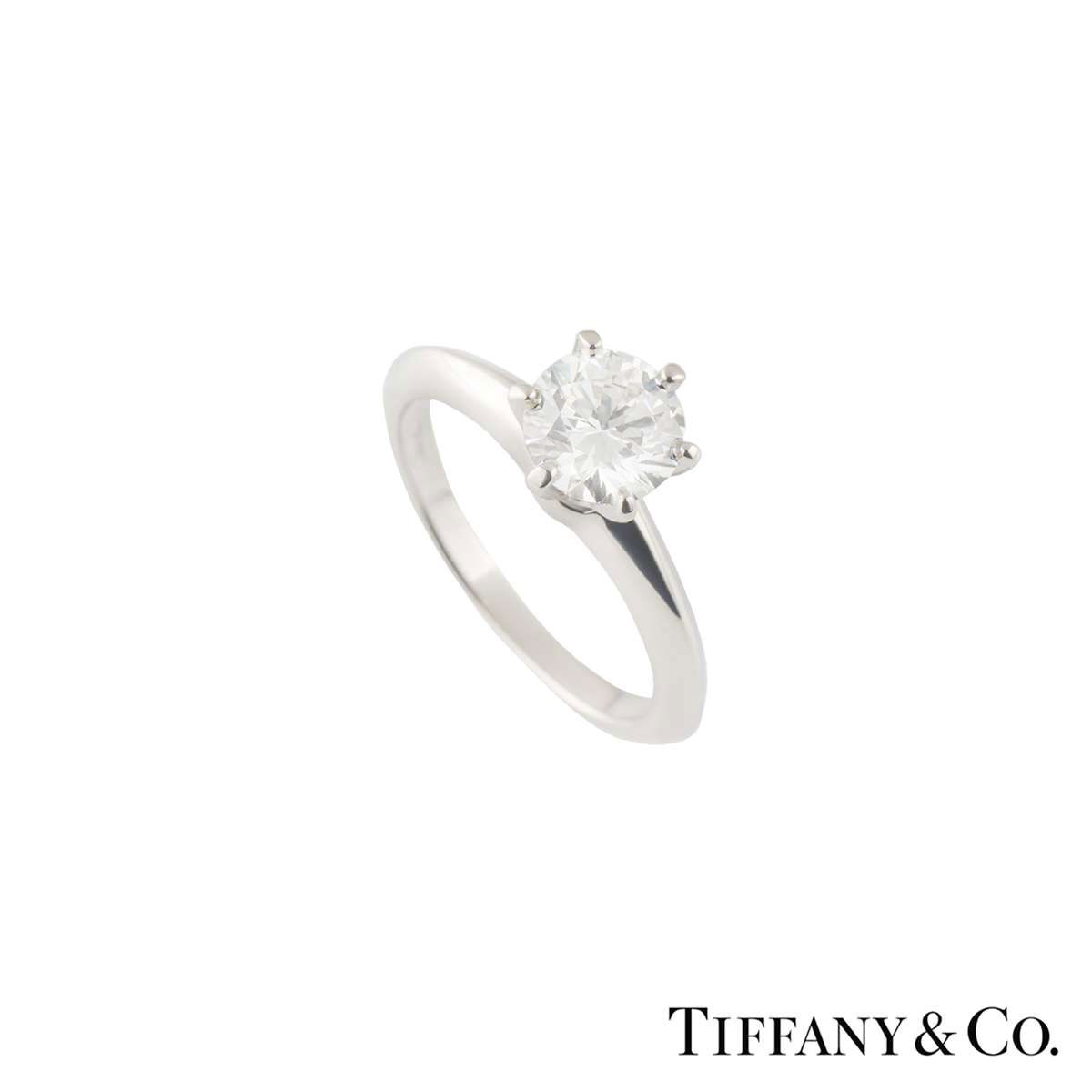 Tiffany & Co. Platinum Diamond Setting Ring 1.03ct G/VS2 XXX